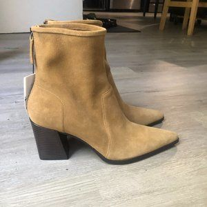 ZARA Tan Suede Ankle Boot *new*